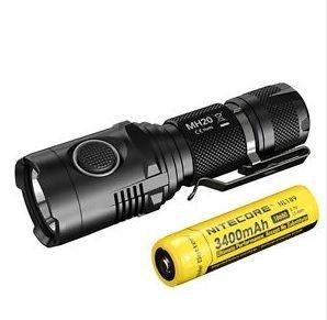 Compacta Lanterna Tática NiteCore MH20 Led Cree de 1000 Lumens Recarregável USB + Super Bateria