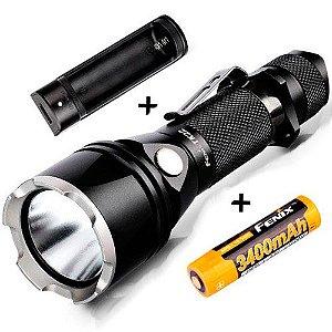 Conjunto Lanterna Tática Fenix TK22 Led Cree 4 modos 920 Lumens Profissional + Super Bateria e Carregador
