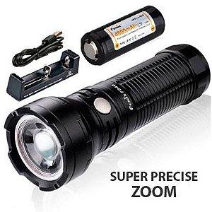 Kit Lanterna Holofote Fenix FD40 Busca Caça e Resgate Led Cree de 1000 Lumens com Zoom Foco Ajustável