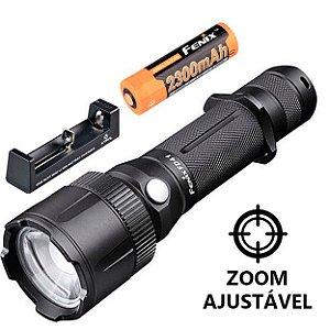 Kit Lanterna Holofote Fenix FD41 Caça e Resgate Led Cree 900 Lumens com Zoom + Bateria e Carregador