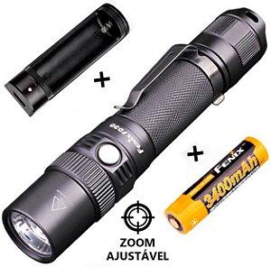 Kit Lanterna Tática Fenix FD30 Policial e Resgate Led Cree 900 Lumens com Zoom + Bateria e Carregador