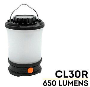Lanterna Luminária Recarregável Fenix CL30R de Acampamento 650 Lumens Resiste a Chuva impactos e Frio extremo