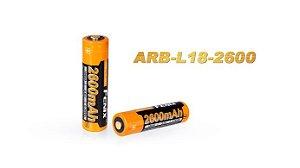 Bateria Fenix ARB L18 18650 alto desempenho 2600 mAh