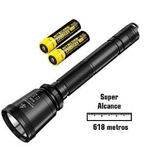 Kit Lanterna Nitecore MT40GT Holofote de Super Alcance 6 modos para Caça Busca Policial Com Baterias