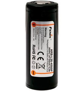 Bateria de alto desempenho 26650 Fenix ARB L26 4500P 4500 mAh com circuitos de proteção