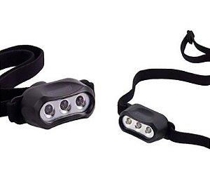 Mini Lanterna Led de Cabeça Coleman 3 Leds usa 2 Pilhas CR2032 Confortável e Potente