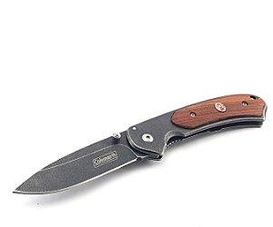 Canivete Coleman Dobrável Greystone Folder Oxidado Lâmina Lisa Clássico Madeira