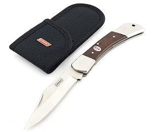 Canivete Grande Coleman Dobrável Forester II Pegada Firme Lâmina Lisa Pesca e Acampamento