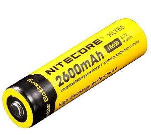 Bateria de Alto Desempenho 18650 Nitecore NL1826 2600 mAh com Circuitos de Proteção