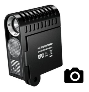 Lanterna para Câmera de Ação GoPro e Sony Action Nitecore GP3 Forte de 360 Lumens Leve e Confiável