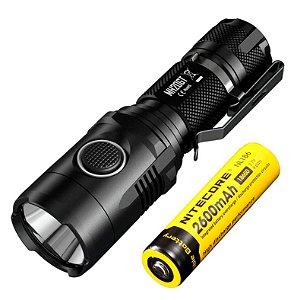 Lanterna Tática Policial NiteCore MH20GT Led Cree de 1000 Lumens Recarregável USB + Super Bateria
