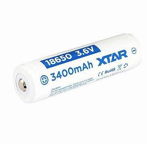 Bateria de alto desempenho 18650 XTAR 3400 mAh com circuitos de proteção