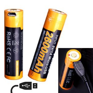 Bateria de alto desempenho 18650 Fenix ARB L18 2600 mAh com circuitos de proteção recarrega USB