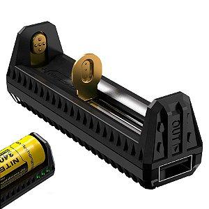 Carregador Nitecore F1 Vários tipos de Baterias Função Carregador Portátil - Power Bank