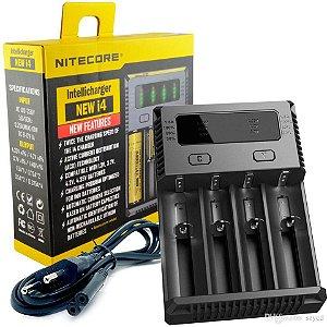 Carregador Nitecore New i4  Inteligente 4 Slots Carrega Diferentes Baterias e Pilhas