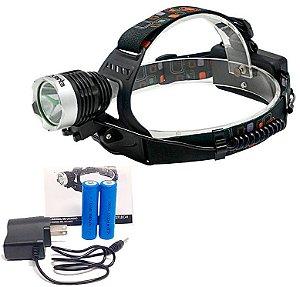 Lanterna Led de Cabeça e Capacete Recarregável Quanta Led Cree T6 450 Lumens