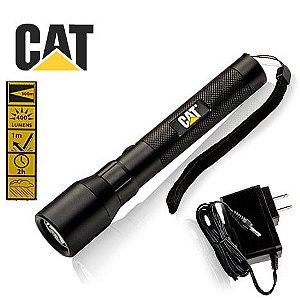 Lanterna Recarregável Forte Caterpillar CAT CT12356P Led Cree T6 de 400 Lumens Robusta