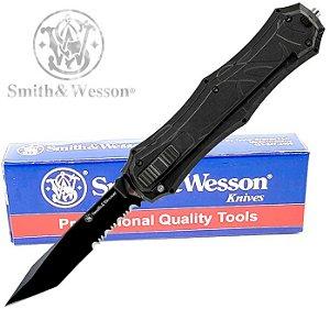 Canivete Automático Smith & Wesson OTF Lâmina semi-serrilhada Ejetável