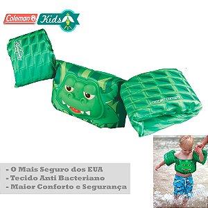 Colete Infantil Coleman com Boias de Braço Deluxe Jacaré