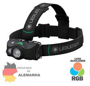 Lanterna de Cabeça e Capacete Profissional Led Lenser MH8 600 Lumens Recarregável RGB