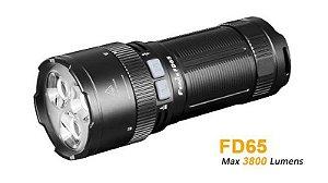 Super Lanterna Fenix FD65 Led Potente de 3800 Lumens Zoom Longo Alcance de 410 metros