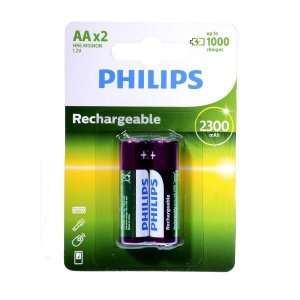 Pilhas Recarregáveis AA Philips 1.2V - 2 Unidades