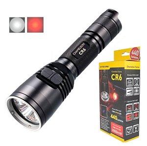 Lanterna Nitecore CR6 Luz Vermelha Auxiliar para Caça 400 Lumens