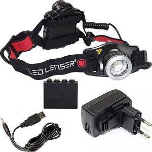 Lanterna de cabeça recarregável LedLenser H7R.2 300 lúmens COMPLETA