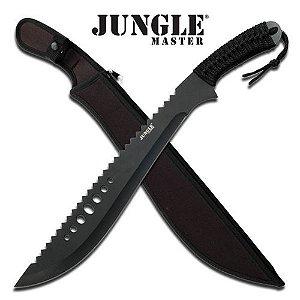 Facão full tang Jungle Master punho com cordão