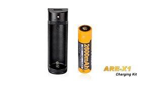 Carregador Fenix ARE X1 USB com função Powerbank e Bateria de 2600 mAh