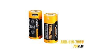 Pilha Bateria 16640 Recarregável Fenix ARB-L16-700U Recarrega no USB
