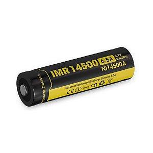 Bateria  de Alta Drenagem Nitecore IMR14500 650mAh