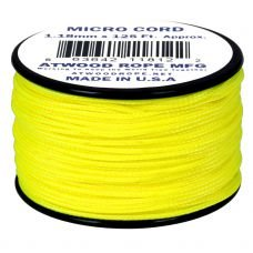 Microcord Cordame Militar Cor Sólida 1,18mm rolo com 37,5m - Amarelo Neon