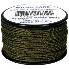 Microcord Cordame Militar Cor Sólida 1,18mm rolo com 37,5m - OD (Verde Militar)