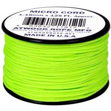 Microcord Cordame Militar Cor Sólida 1,18mm rolo com 37,5m - Verde Neon