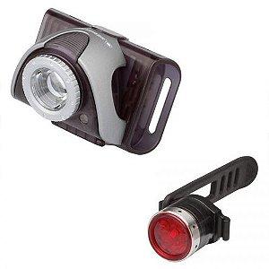 Conjunto Lanterna e Farol de Bicicleta Led Lenser B2R e SEO B5R para Bike ou Cabeça