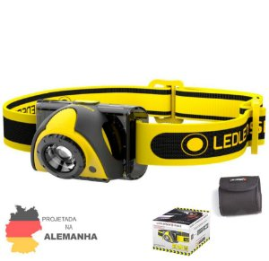 Lanterna de Cabeça Capacete Led Lenser iSEO 3 Industrial 100 Lumens Zoom Ajustável