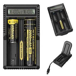 Carregador  Inteligente de Baterias de Lítio Nitecore UM20