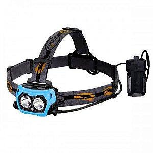 Lanterna de cabeça Fenix HP40F 450 lumens. Case com saída USB para recarregar celulares o outros aparelhos.