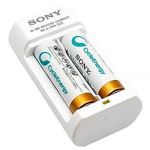 Carregador de Pilha Sony 2 Pilhas (AA/AAA) - Branco