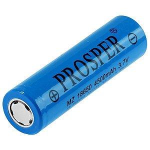 Bateria Recarregável Prosper MZ 18650 alta Capacidade 4.500 mAh