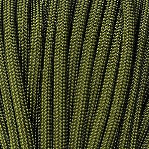 Cordame Paracord 550 Lb com 7 filamentos 10 metros - Verde Oliva Militar