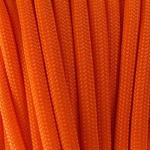 Cordame Paracord 550 Lb com 7 filamentos 10 metros - Laranja Neon