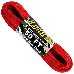 Corda Militar Battlecord 2650 Lbs 7 Filamentos 15 metros - Vermelho
