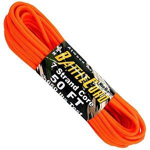 Corda Militar Battlecord 2650 Lbs 7 Filamentos 15 metros - Laranja Neon