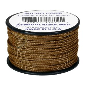 Rolo de Corda Cordame Militar Microcord 1,18mm x 37,5m - Marrom Coyote