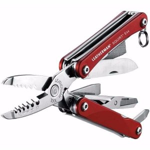 Alicate Eletricista Leatherman Squirt ES4 Red