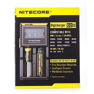 Carregador Nitecore Digicharger D2EU Inteligente 2 Canais