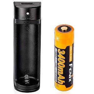 Kit Bateria + Carregador Fenix ARE X1 função Powerbank