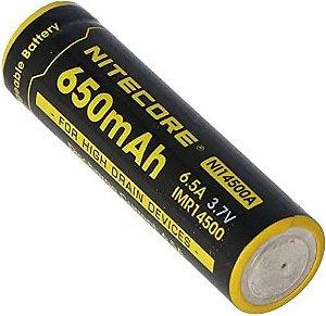 Bateria de lítio 14500 Nitecore NI14500A com alta drenagem